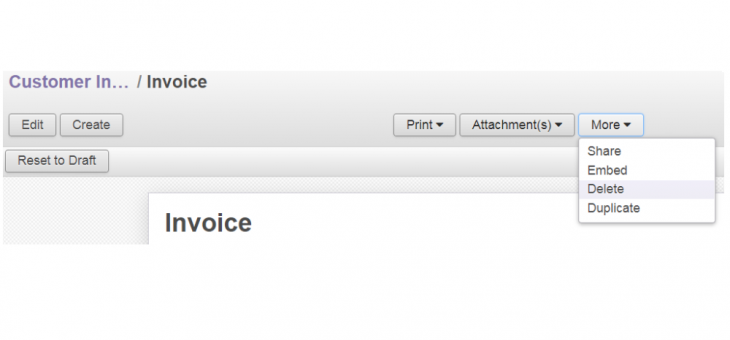 Delete an invoice after validation?  (Odoo 8)